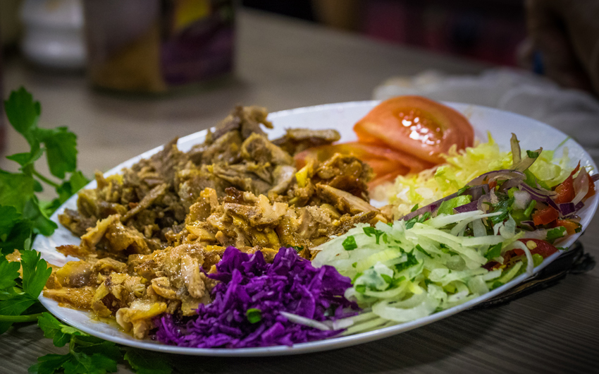 Shawarma With Salad