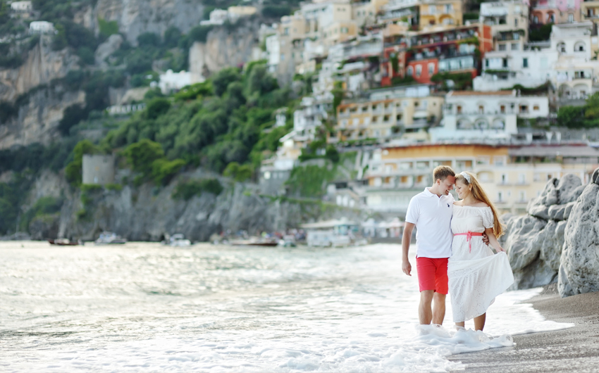 Walking on Positano beach