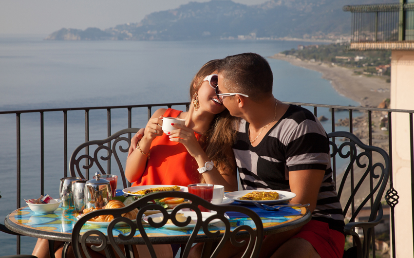 Breakfast in Taormina