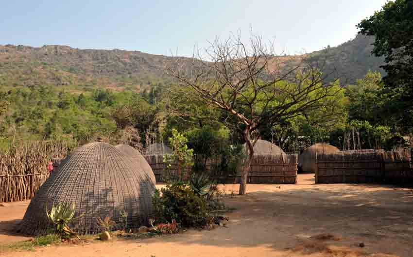 Traditional Swazi village Swaziland