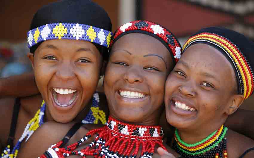 Three young Zulu women