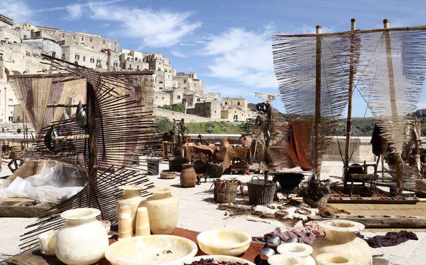 Market in Sassi of Matera