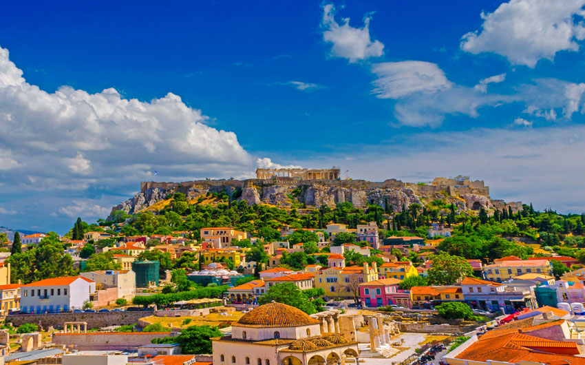Acropolis and Monastiraki in Athens