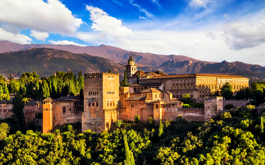 Ancient arabic fortress of Alhambra, Granada
