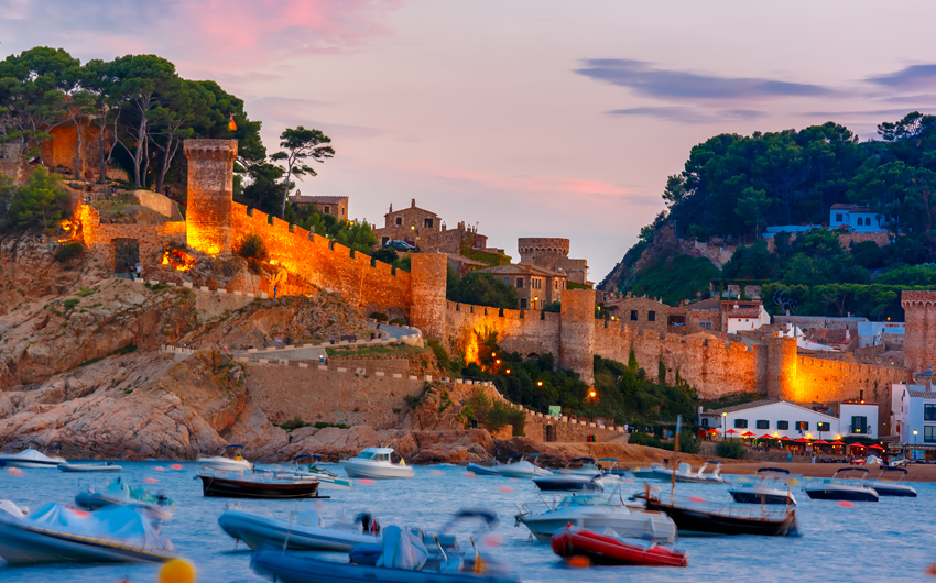 Tossa de Mar on the Costa Brava