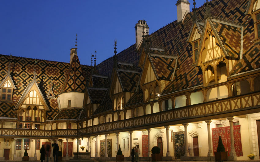 Hotel de Dieu of 14th century in Burgundy