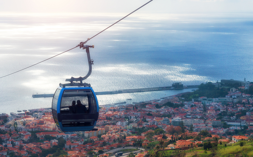 Cable car in Funchal