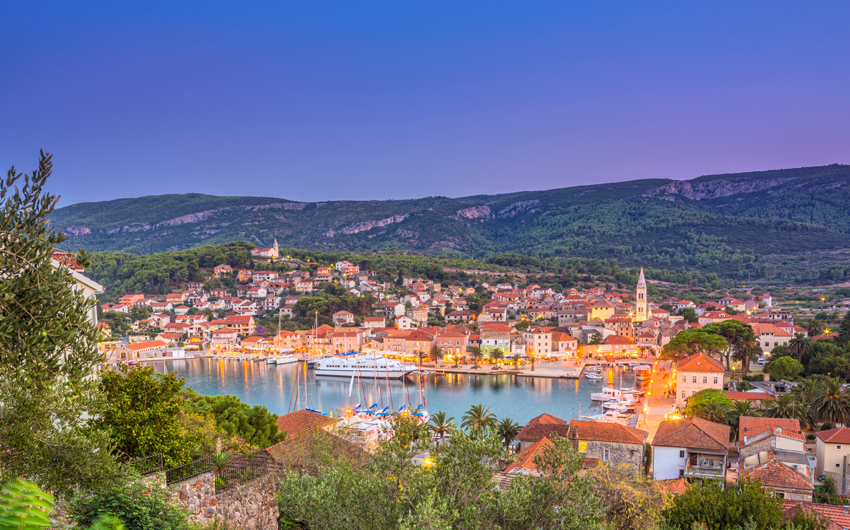 Town and harbor of Jelsa, Hvar