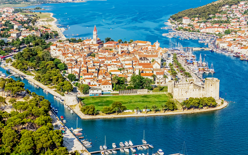 Sky view of Trogir