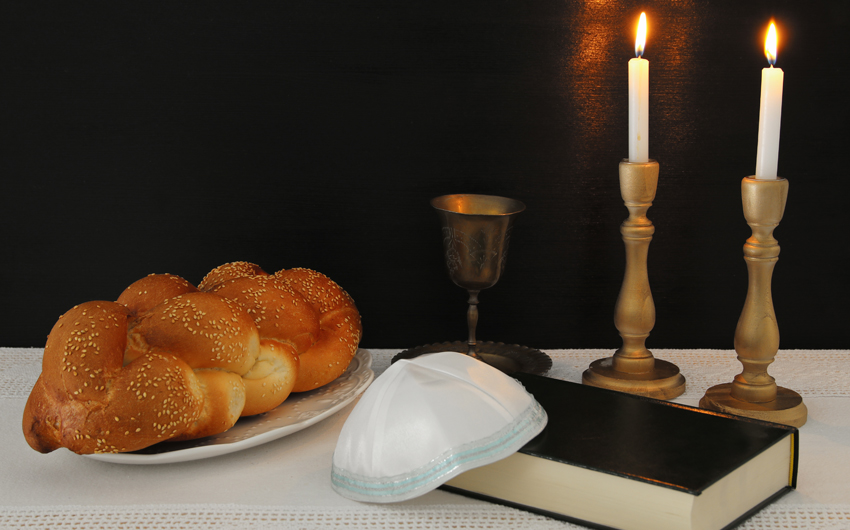 Lighting the candles for the Jewish Sabbath