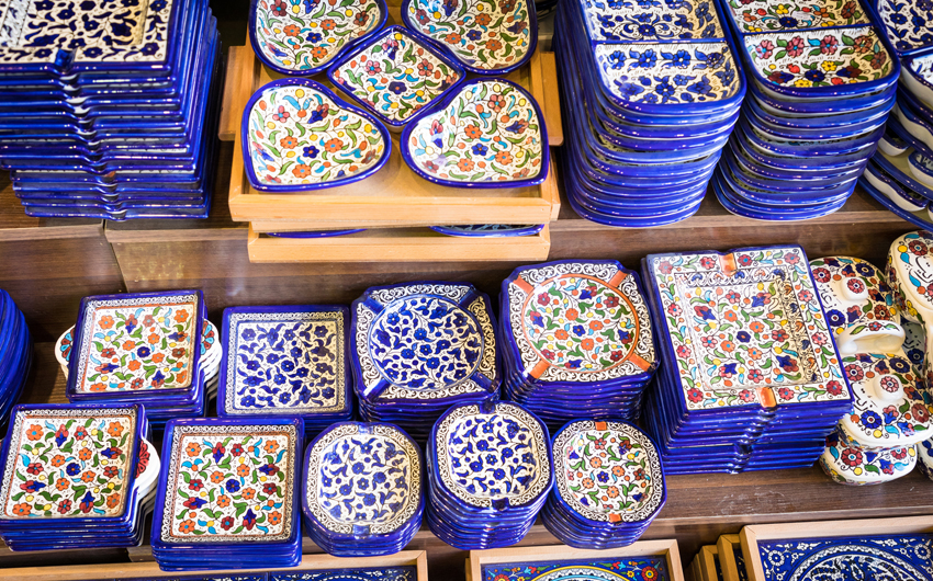 Traditional souvenirs in Jordan,