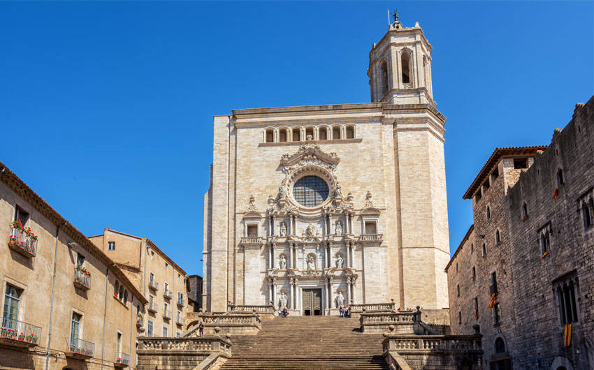 The medieval Cathedral of Saint Mary of Girona