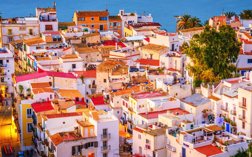 Colorful Ibiza Down Town
