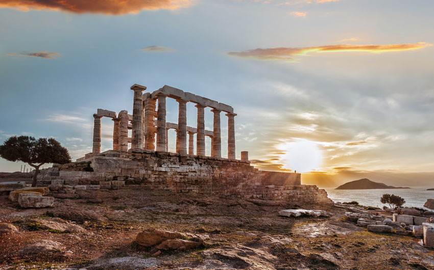 Greek temple Poseidon, Cape Sounion