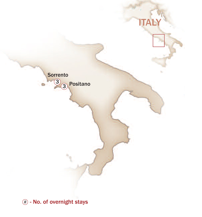 Italy Map  for THE JEWELS OF THE AMALFI COAST