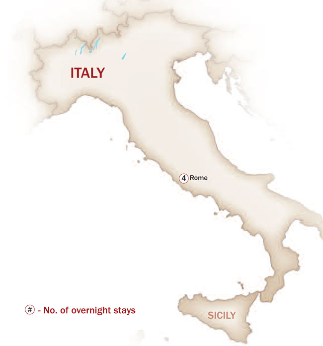 Italy Map  for Savory Rome