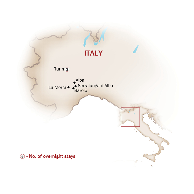 Italy Map  for TURIN, THE ELEGANT FIRST CAPITAL CITY OF ITALY