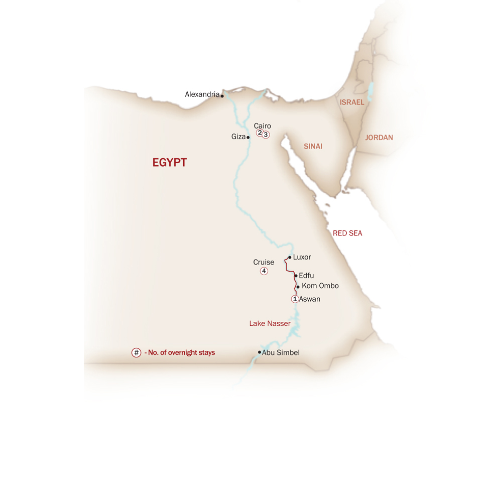 Egypt Map  for EGYPT IN STYLE