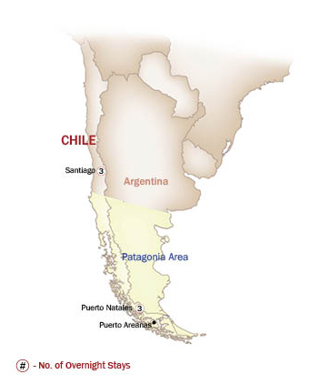 Chile Map  for WONDERS OF CHILE