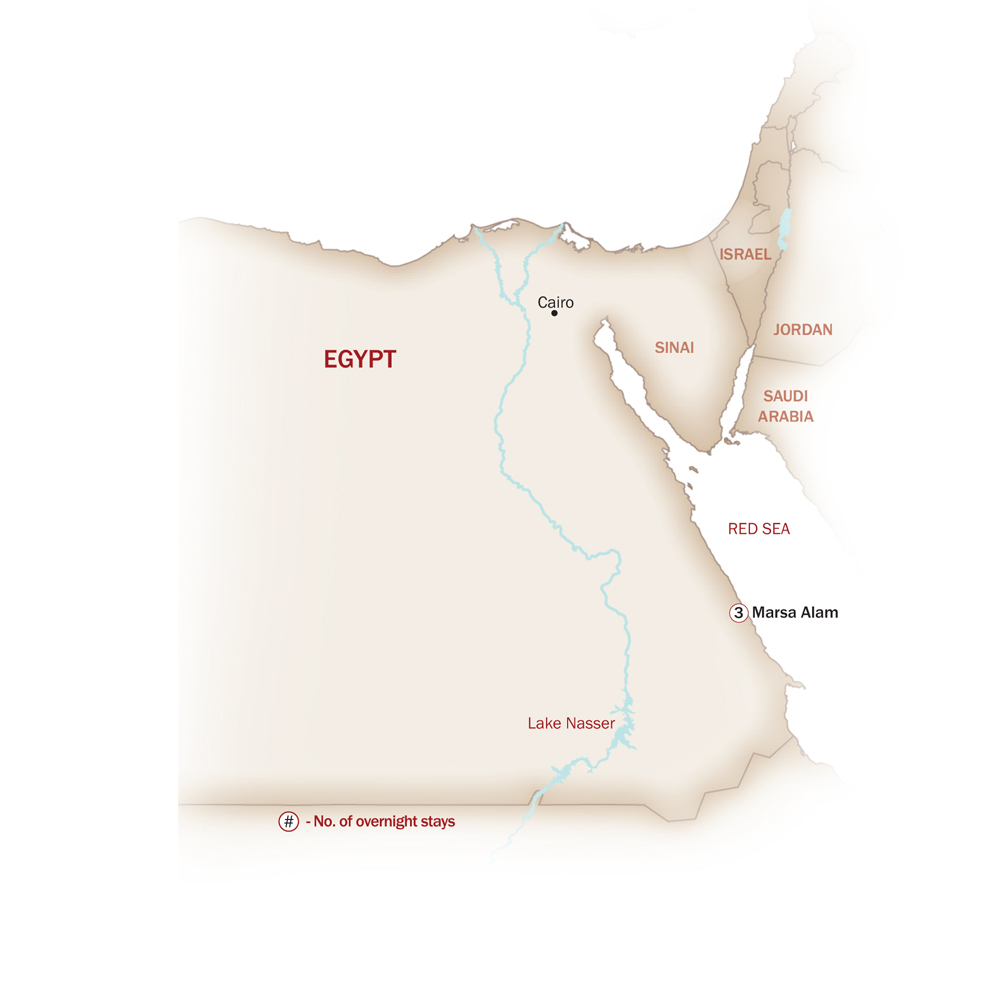 Egypt Map  for MARSA ALAM EXTENSION