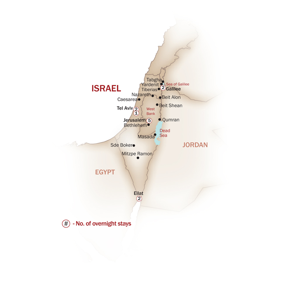 Israel Map  for JEWISH LEGACY