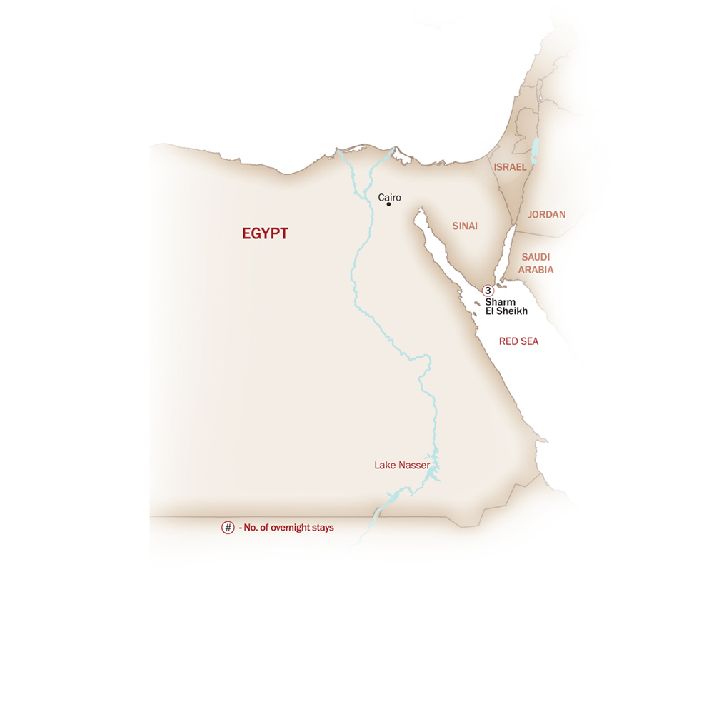 Egypt Map  for Sharm El Sheikh Extension