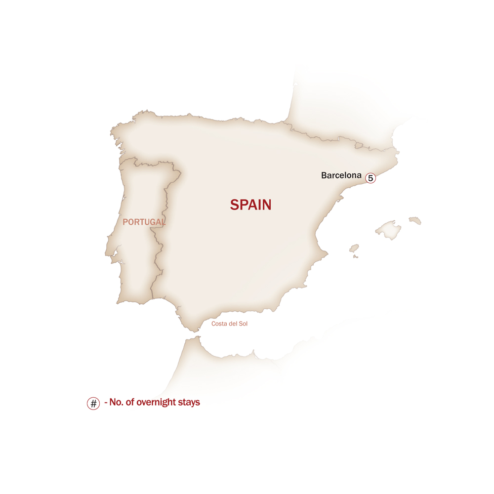 Spain Map  for WHEN IN BARCELONA