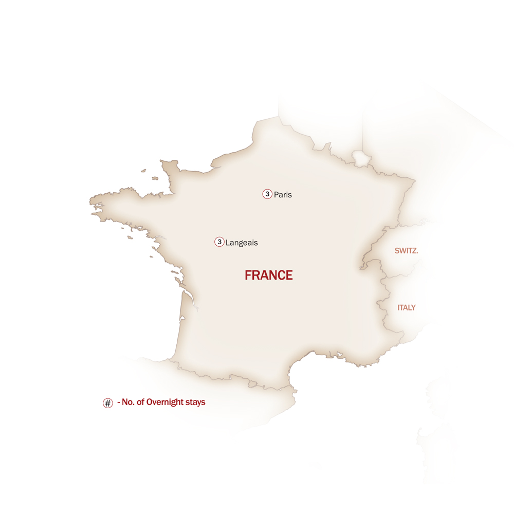 France Map  for LOIRE VALLEY CUISINE