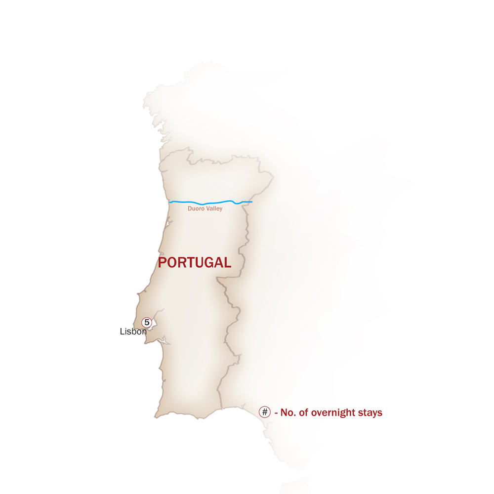 Portugal Map  for WHEN IN LISBON