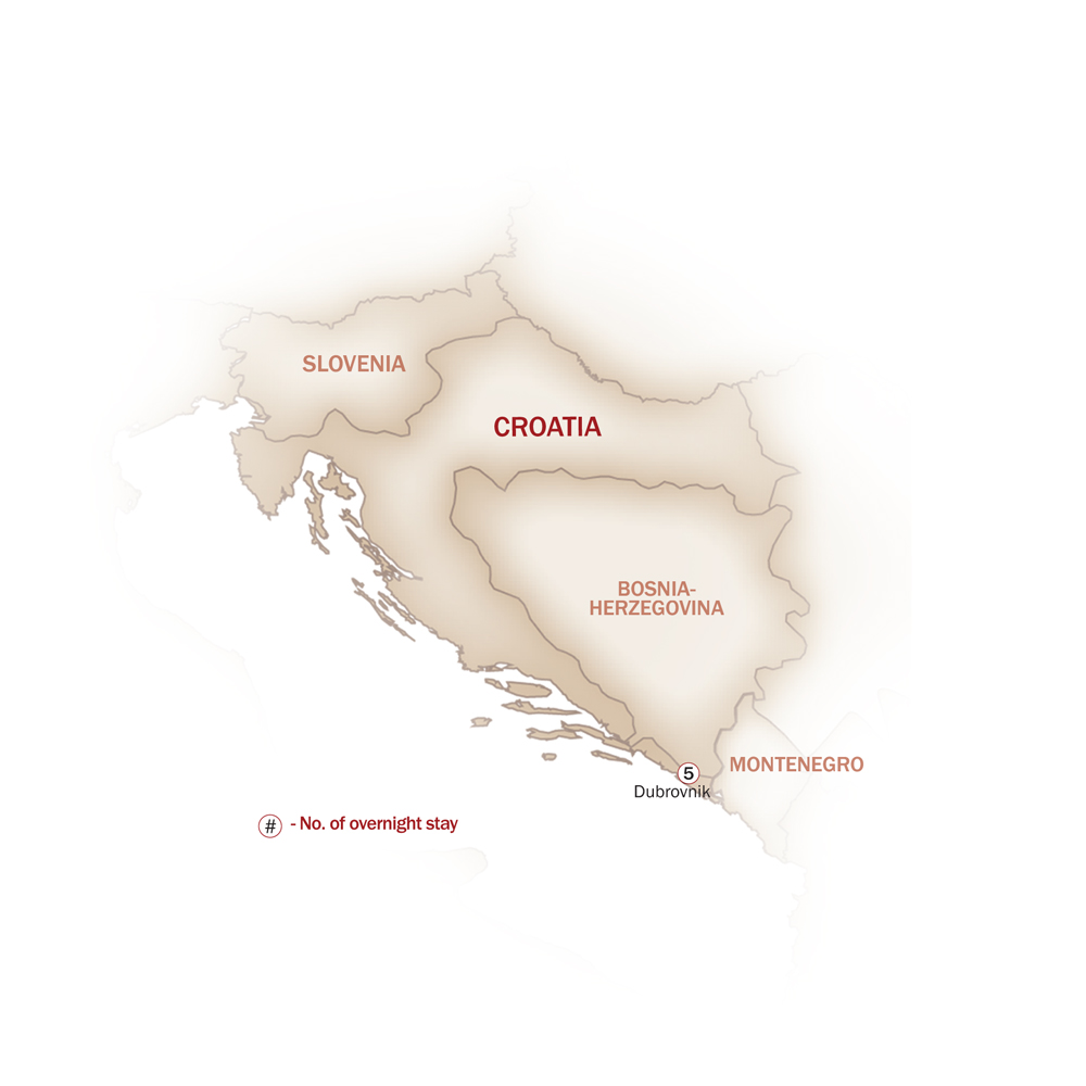 Croatia Map  for WHEN IN DUBROVNIK