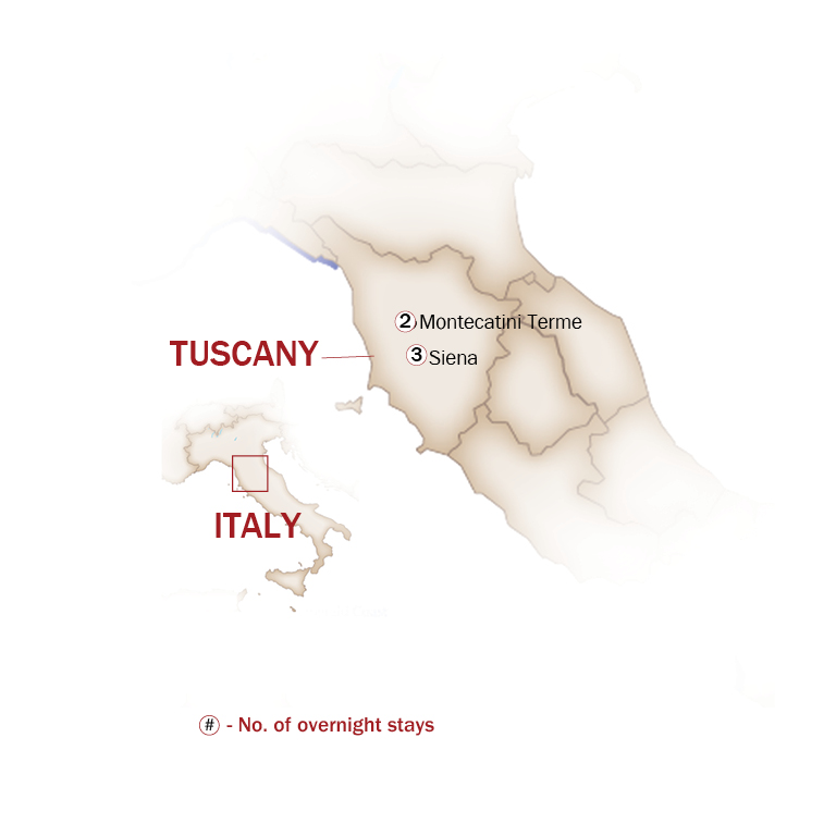 Italy Map  for TUSCANY