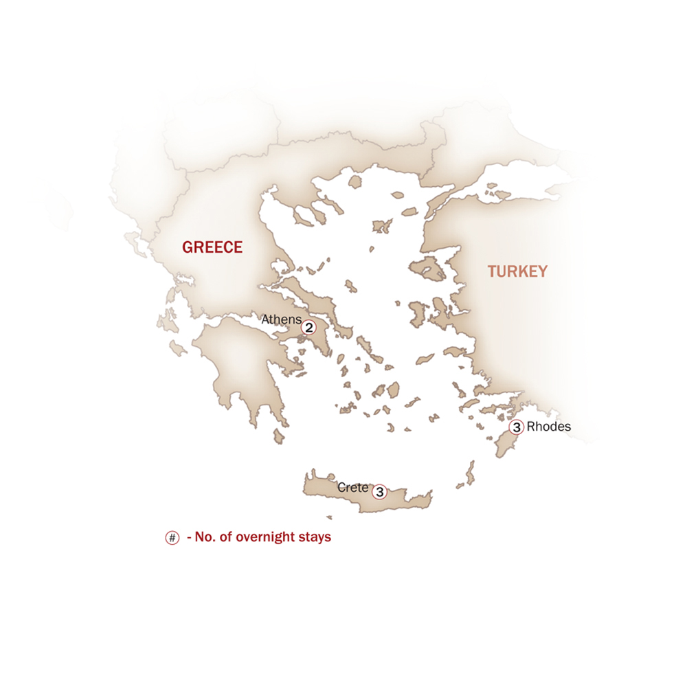Greece Map  for RELICS OF ANCIENT GREECE