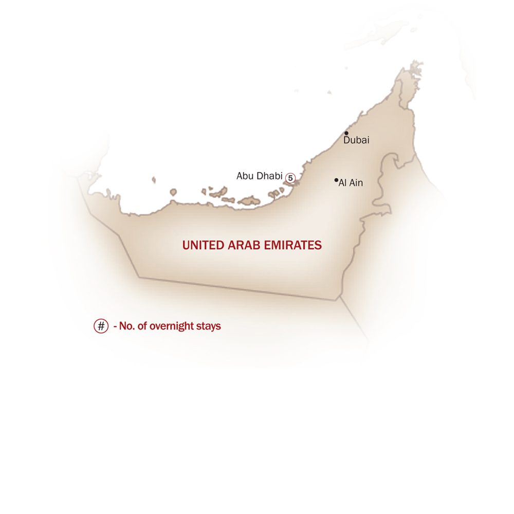 United Arab Emirates Map  for DISCOVER ABU DHABI