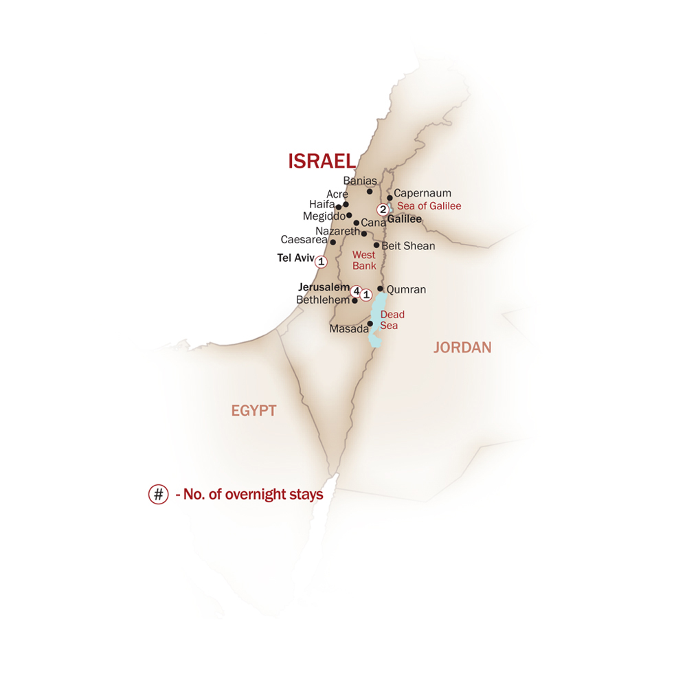 Israel Map  for CHRISTIAN HIGHLIGHTS
