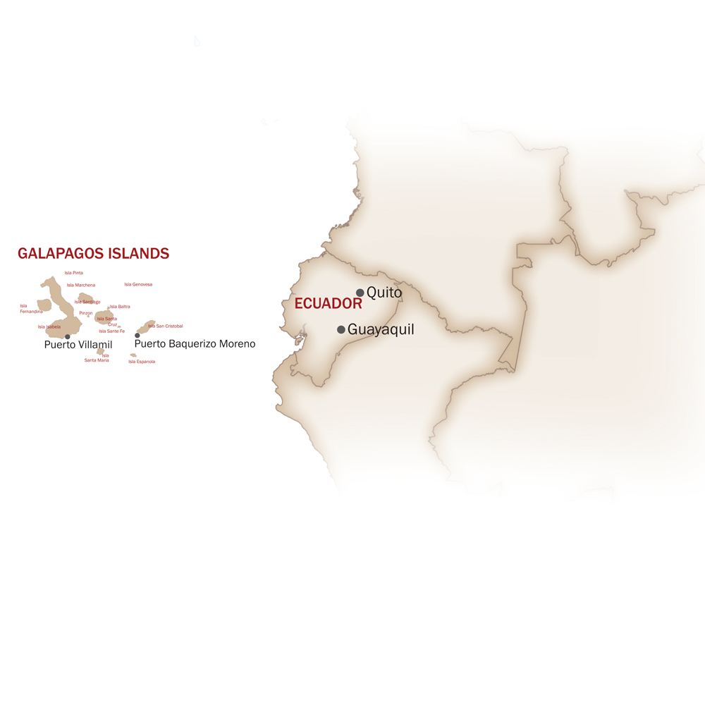 Ecuador & Galapagos Islands Map