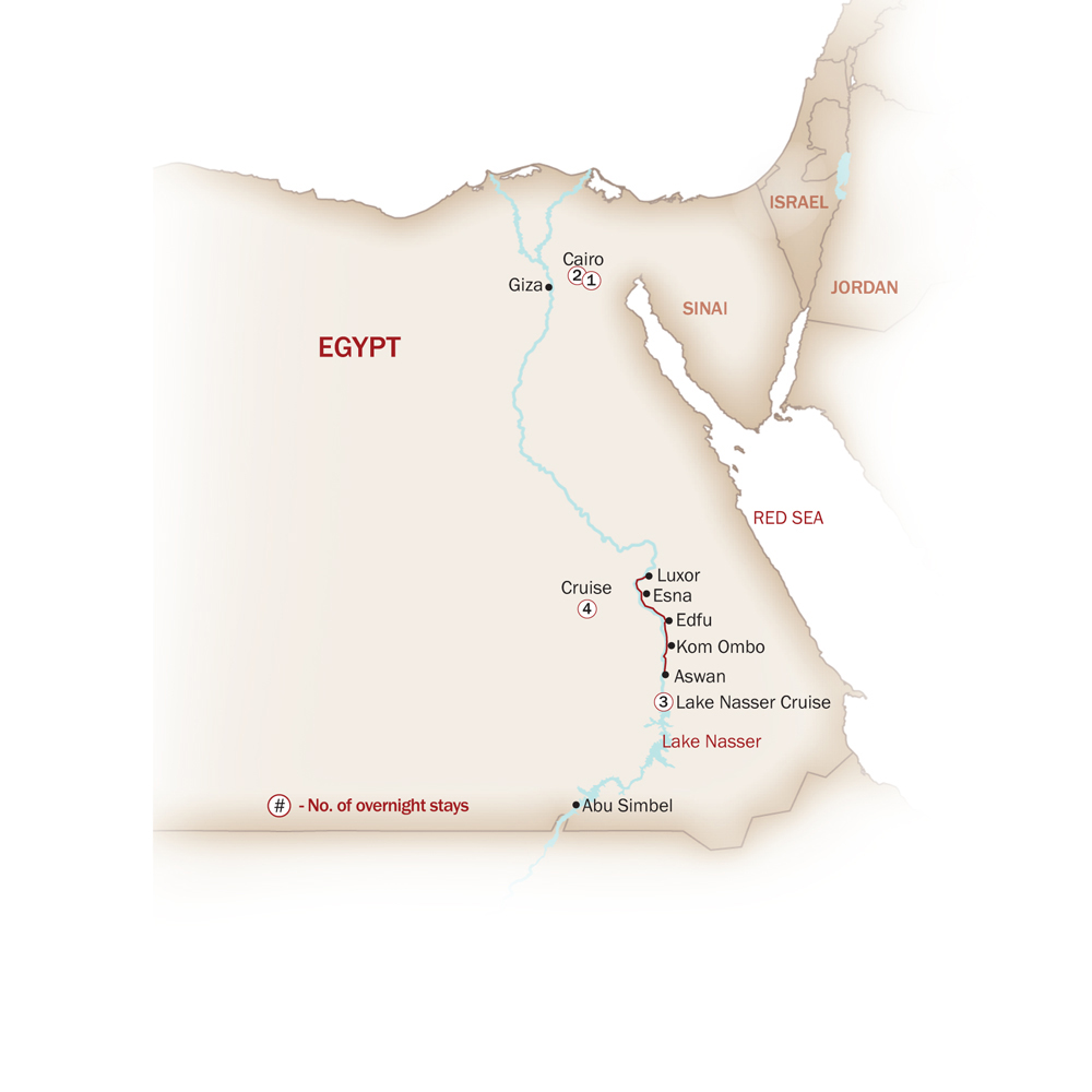 Egypt Map  for NUBIAN TREASURES