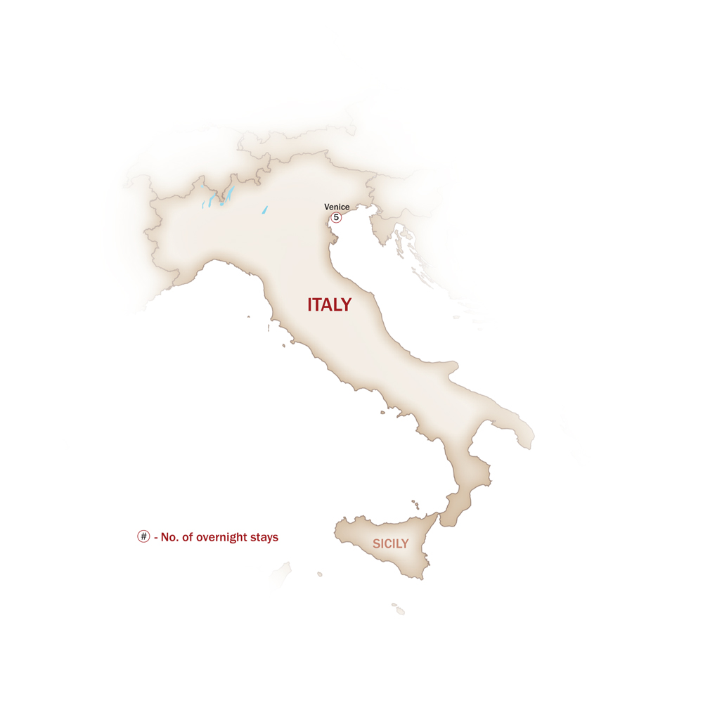 Italy Map  for WHEN IN VENICE