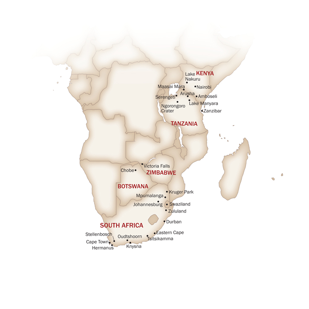 Eastern & Southern Africa Map