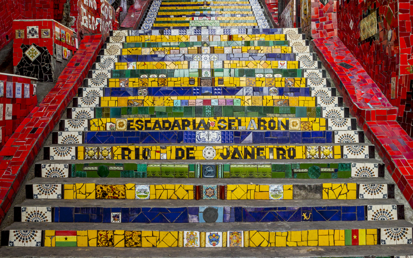 Escadaria Selaron - stairway in Lapa district