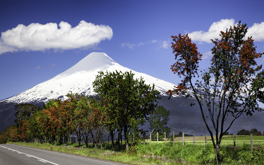 Volcano Osorno in the Chilean Lake District, Puerto Montt