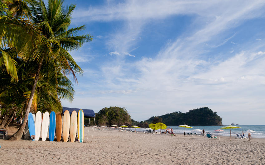 Manuel Antonio located on the Pacific Coast