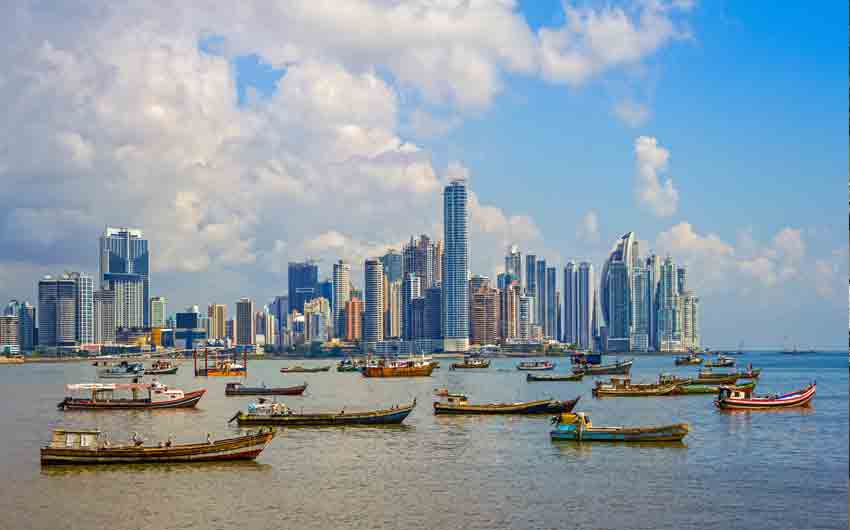 Panama City and Harbor Republic of Panama