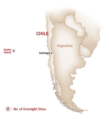 Chile Map  for EASTER ISLAND GETAWAY