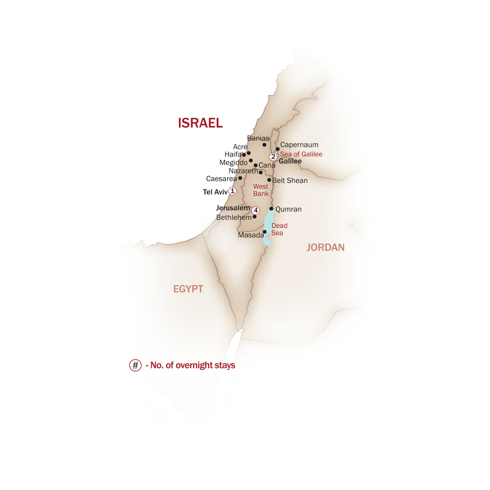 Israel Map  for SOURCE OF FAITH