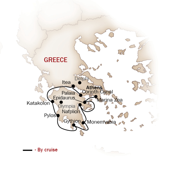 Greece Map  for ANTIQUITY TO BYZANTIUM