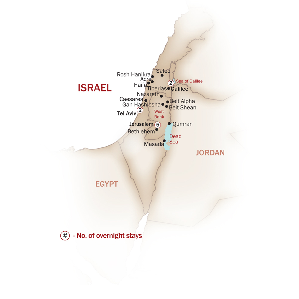Israel Map  for JEWISH HERITAGE