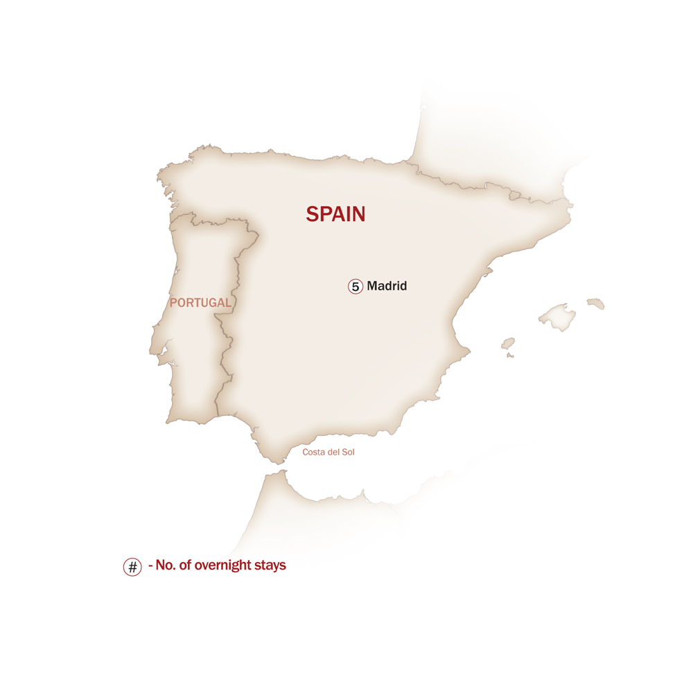 Spain Map  for WHEN IN MADRID