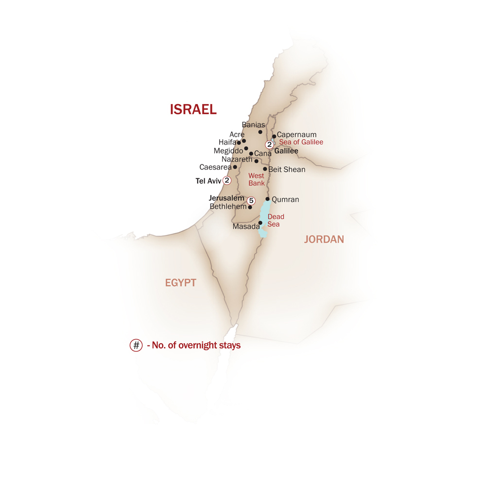 Israel Map  for CLASSICAL ISRAEL