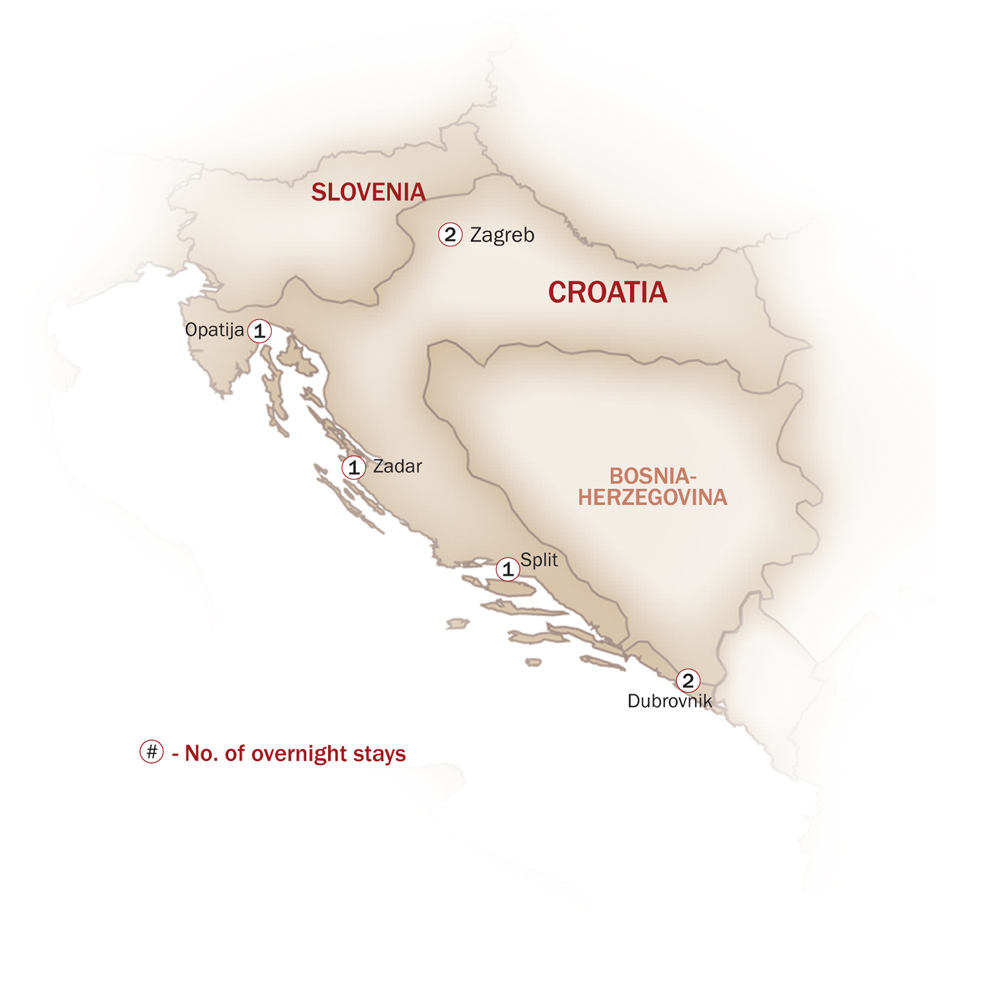 Croatia Map  for DRIVING THROUGH CROATIA