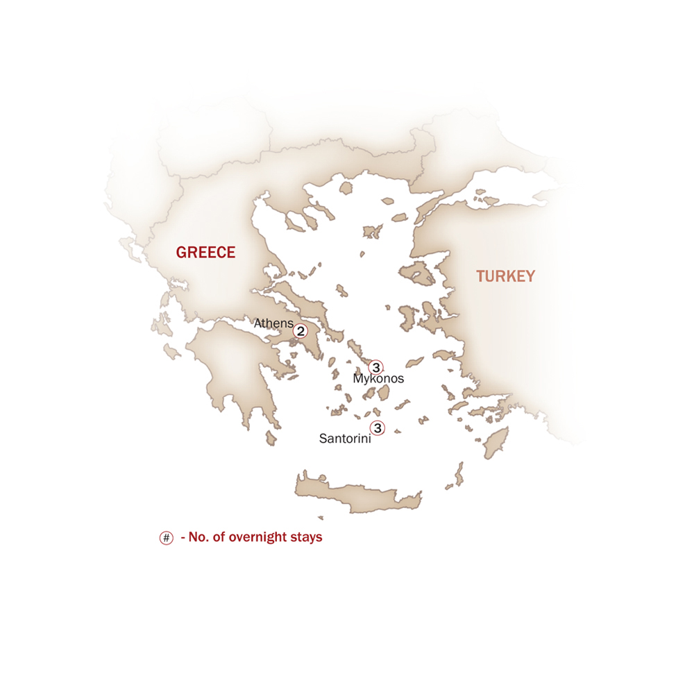 Greece Map  for GEMS OF GREECE